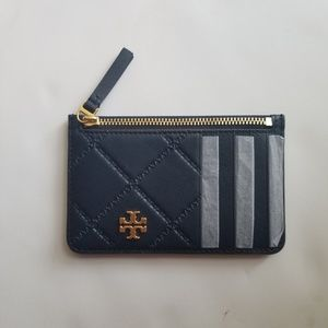 NWT Tory Burch zip card case